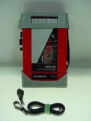 Vintage Sanyo Am/fm Cassette Player Sanyo M-G31A Metal Tape Sportster Case Works