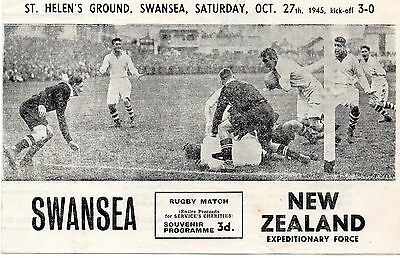 Oct 45 SWANSEA v NEW ZEALAND Expeditionary Force