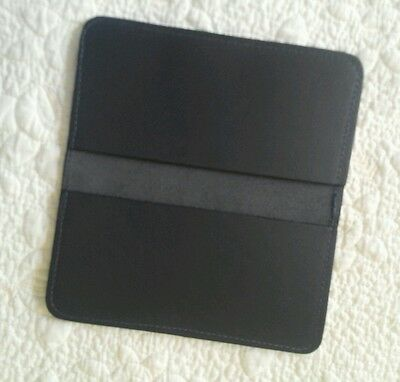 USA Made - CHECKBOOK Standard - BLACK - thick Leather Holder Case Cover Wallet