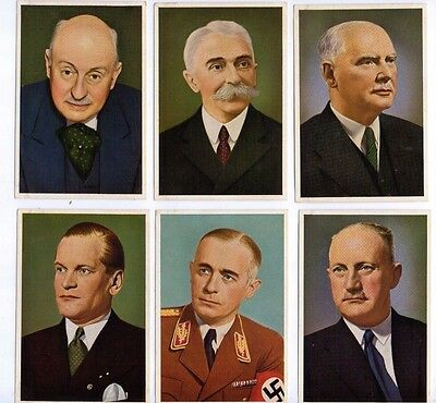 1936 Olympia by Muhlen Franck, Serie 9 1 to 6, Committee members colour cards