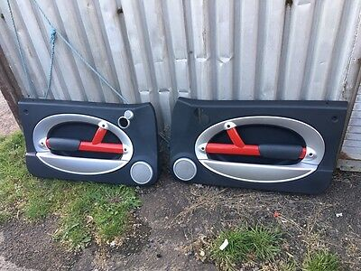 Genuine Used MINI Pair of Red Trim Door Cards for R50 R52 R53