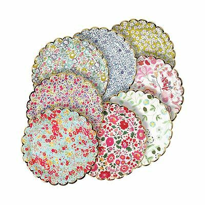 Liberty of London Small Paper Plates x 8 Assorted Floral Wedding Tea Party