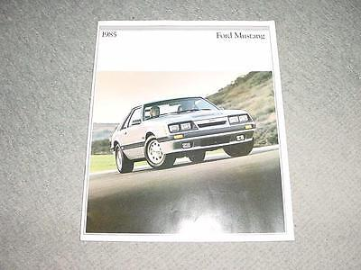 1985 and Ford Mustang 85-1/2 SVO Dealer Sales Brochure