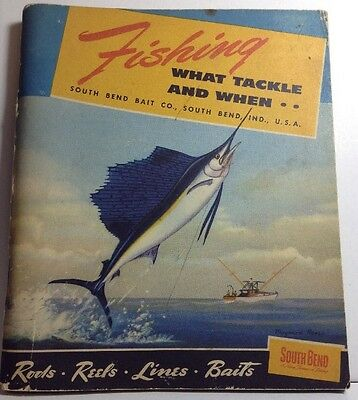 Vintage 1952 South Bend Fishing Tackle Catalog