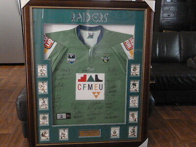 NRL 2007 Canberra Radiers Jersey COA signed memorabilia football framed