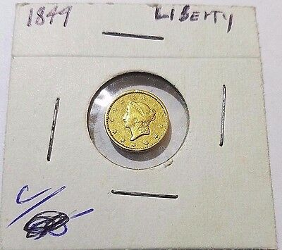 1849 Liberty Head Gold Dollar OPEN WREATH  Free Ship!