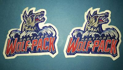 2 Lot Rare Hartford Wolfpack AHL Hockey CCM Jersey Shoulder Patches Crests