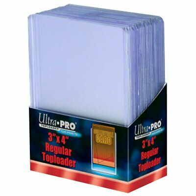 "ULTRA PRO Top Loader - 3"" x 4"" Regular Clear - Pack of 25 MTG Pokemon Yugioh"