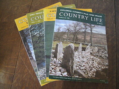 X 4 Country Life Vintage Magazine 3 from  1984,  1 from 1983