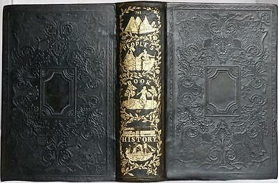 RARE 1851 1stED PEOPLES BOOK OF ANCIENT AND MODERN HISTORY EGYPT GREECE ROME VG+