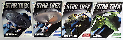 Star Trek : The Offical Starships Collection Magazines Only. Set Of 11 (Tk)