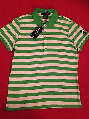 POLO RALPH LAUREN GOLF Lux Pima Cotton Women's Sz L Green White BNWT
