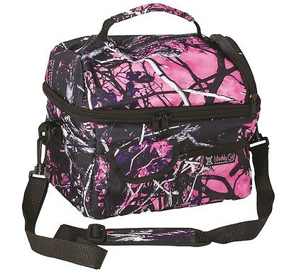 Muddy Girl Camouflage Insulated Cooler Bag Lunch Box Moonshine Pink Purple
