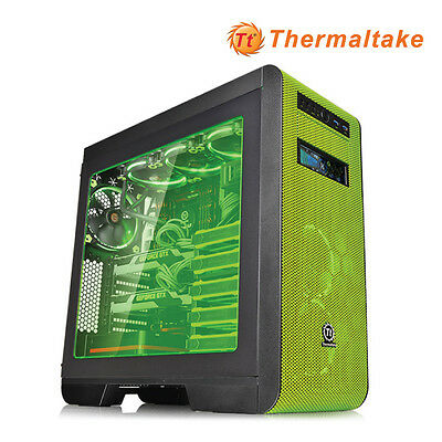 NEW  Thermaltake Core V51 Riing Green Atx Gaming Mid Tower Case