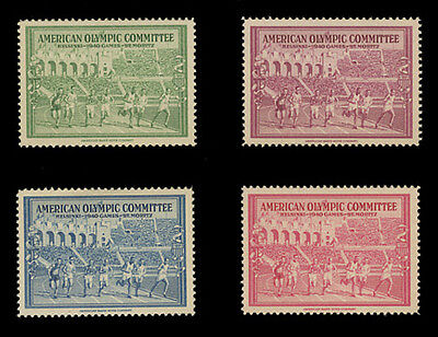 1940 Helsinki Olympics - American Bank Note Company, Set Of 4