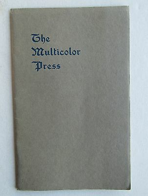 Booklet For The Multicolor Press 1915 Lisenby Mfg. Co.
