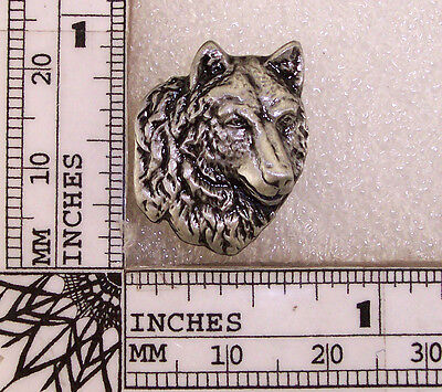 WOLF  Hat Pin Lapel Pin Vest Pin Lone Wolf Pewter Vest Pin Tie Tac