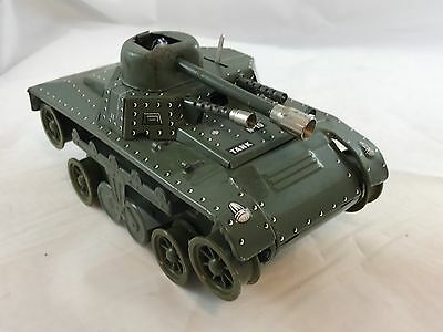 Joustra tank Made In France Vintage Tin Toy Army