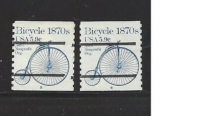 1901a - Used 5.9 Bicycle P/C #'s 5&6