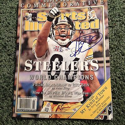 Hines Ward Signed Autographed Sports Illustrated HOF?? Exact Proof