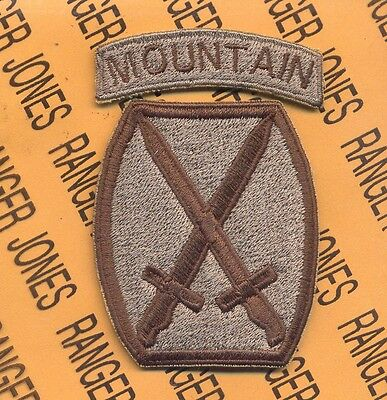 US Army 10th MOUNTAIN DIVISION Infantry Multi Cam SSI patch