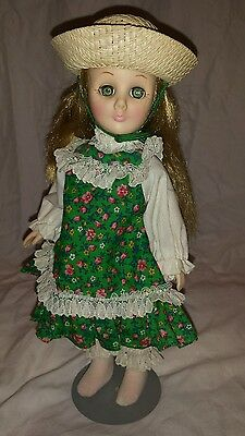 "EFFANBEE MARY, MARY 12"" Dressed Doll WITH ORIGINAL HAT Effanbee 1976 rare"