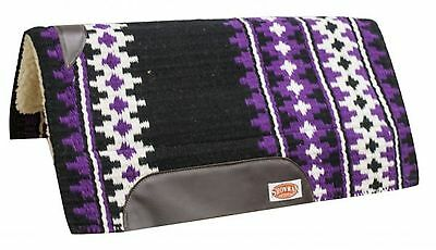 "Showman PURPLE 34"" x 36"" Cutter Style Western Saddle Pad W/ Memory Felt Center!"