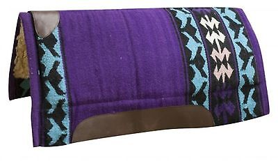 "Showman PURPLE 32"" x 34"" Wool Top Western Cutter Style Saddle Pad! HORSE TACK!"