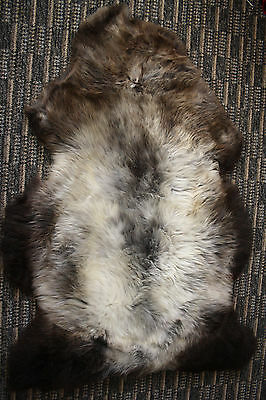 SHADOWS OF SILVER / GREY GENIUNE Amazing Icelandic Sheepskin RUG
