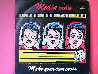 "FLASH AND THE PAN 45 giri 7"" media man/make your own cross ITALY EX/EX (VINYL)"