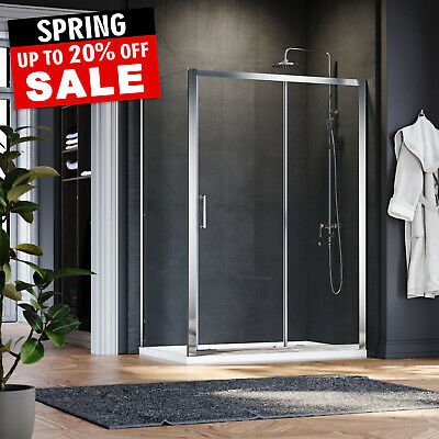 Sliding Shower Enclosure And Tray&Waste Door+Side Panel safety glass