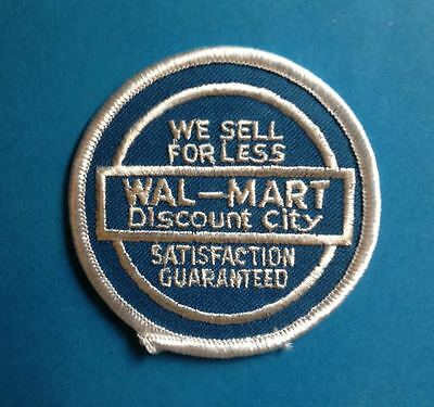 Vintage 1980's  Walmart Department Store Employee Uniform Work Shirt Patch Crest