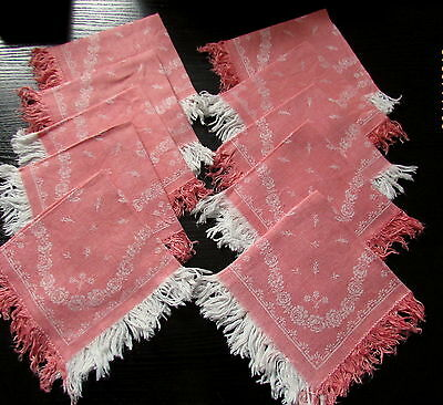 10 Serviettes A The Anciennes Decor Napoleon Iii/french Antic Napkins