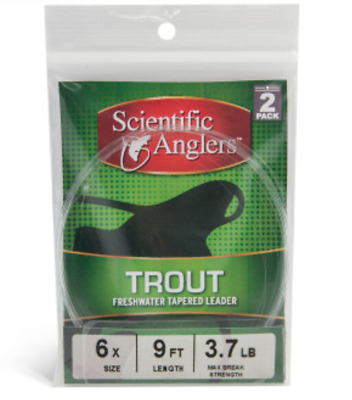 Scientific Angler Fly Fishing Tapered Leader - 2 Pack