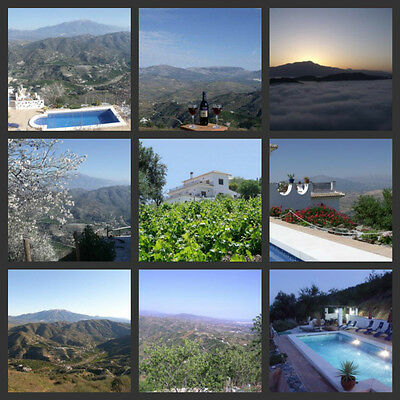 Spanish self catering long term holiday only one hour from Malaga stunning views