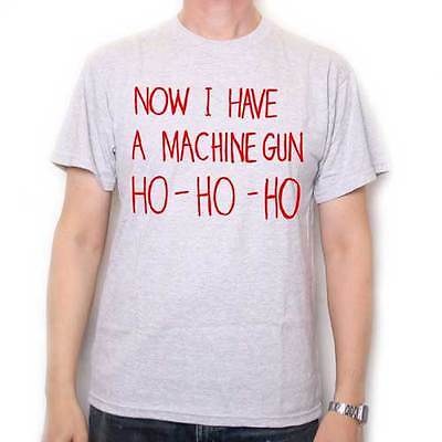 Inspired by Die Hard T Shirt - Now I Have A Machine Gun Ho Ho Ho Cult Film Tee !
