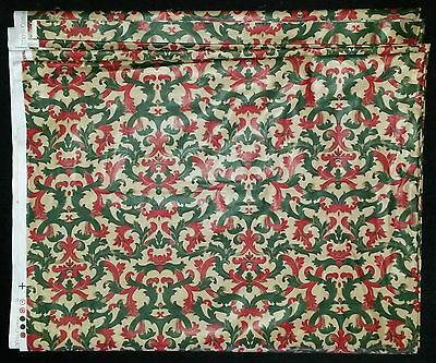 8 m 1988 Laura Ashley Chintz Fabric Gold/Green/Red