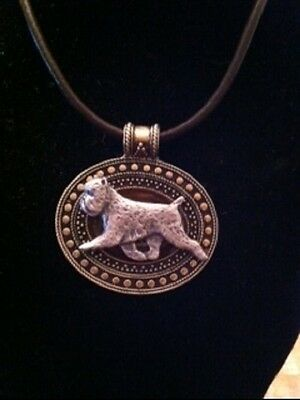 Brussells Griffon  Dog Brass Medallion on leather cord~necklace brussels Griff