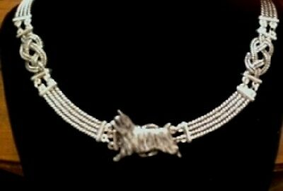 Silkie Terrier/ Silky dog  Knot Necklace~dog jewelry~infinity/celtic