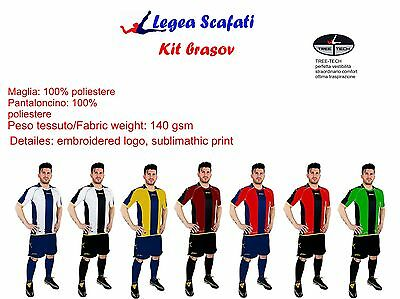 Kit Brasov Legea Spport Calcio Muta Completino Calcetto