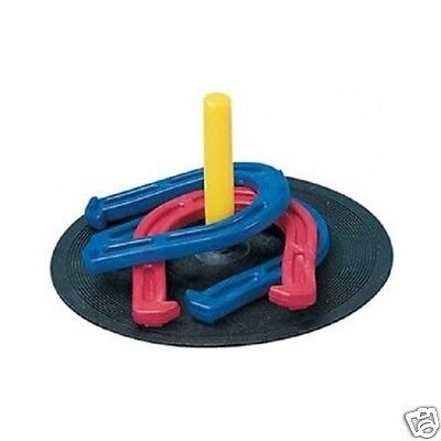 Horseshoe Set Champion Sports Rubber In/outdoor Family Lawn Game Free Shipping