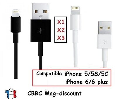 Cable cordon chargeur USB IOS 9/10 pour IPhone 4/4S 5/5S 6 / 6+/7 iPad