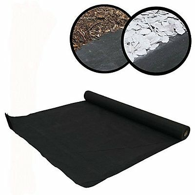 New Heavy Duty Weed Control Woven Fabric Ground Cover Mulch Membrane Mat 17gsm