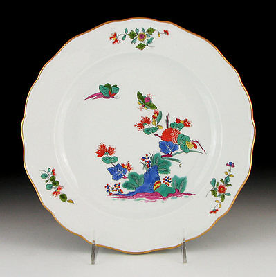 "MEISSEN PORCELAIN KAKIEMON PLATE with INSECTS 9 7/8"" First Quality"