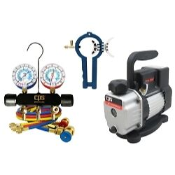 CPS Products VP2SKIT Vacuum Pump & Manifold Gauge Promo Set