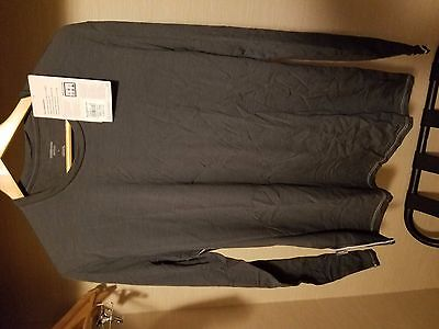 Icebreaker Mens Anatomica L/S Crew 100468 Monsoon Size Large NEW REAL DEAL!
