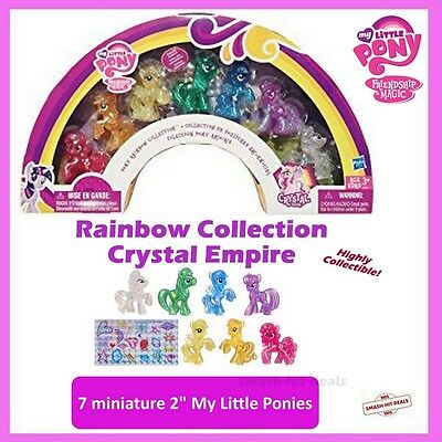 My Little Pony Rare Crystal Empire Set Rainbow Collection Glitter Figures NEW