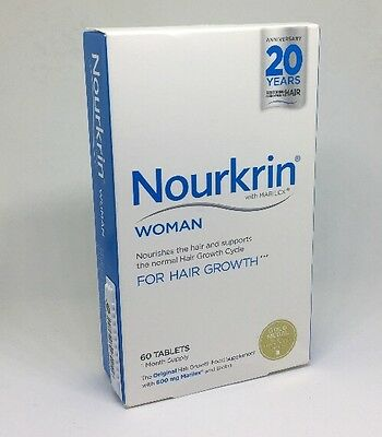 NEW Nourkrin Woman Hair Growth 1 Month Supply - 60 Tablets