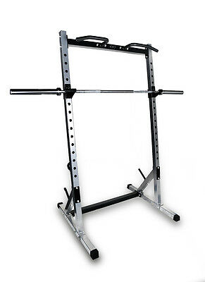 High Quality Professional Half Squat Rack with Chin Up Bars
