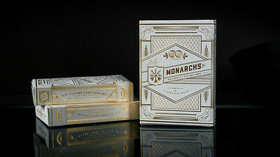 White Gold Monarchs Playing Cards Rare New Sealed Theory11